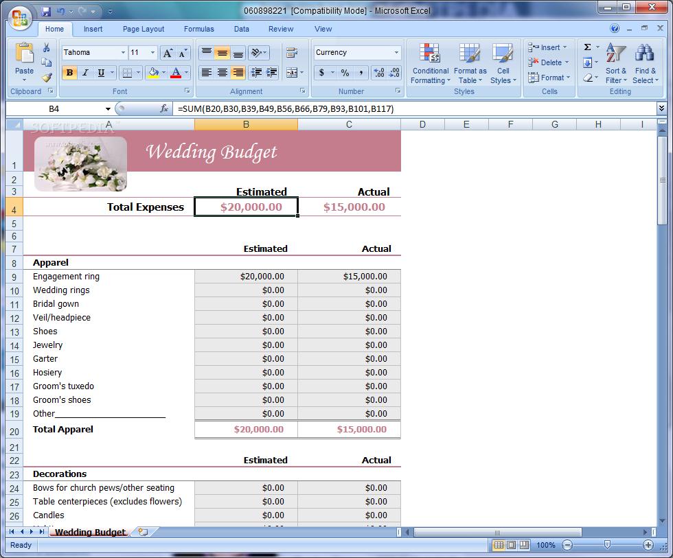 Wedding Expense Spreadsheet For Wedding Expenses List Spreadsheet  Homebiz4U2Profit