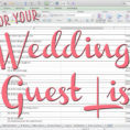 Wedding Guest List Excel Spreadsheet Within Tips For Making Your Wedding Guest List  The Yes Girls