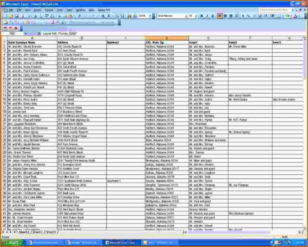 Wedding Guest Spreadsheet For Wedding Guest Spreadsheet  Daykem