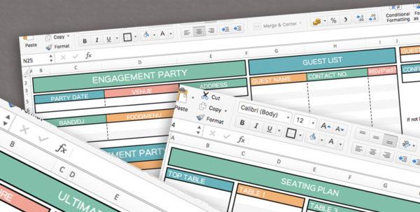 Wedding Planner Excel Spreadsheet Intended For Wedding Planner Spreadsheet, Excel Wedding Planner, Organiser