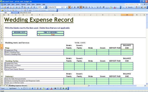 Wedding Planning Checklist Excel Spreadsheet In 34 Wedding Planning Checklist In Excel  626Reserve