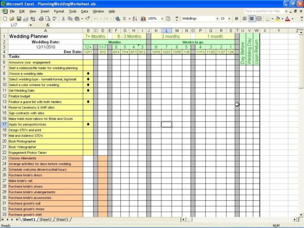 Wedding Planning Checklist Excel Spreadsheet Inside Example Of Excel Wedding Budget Spreadsheet Business Template Best