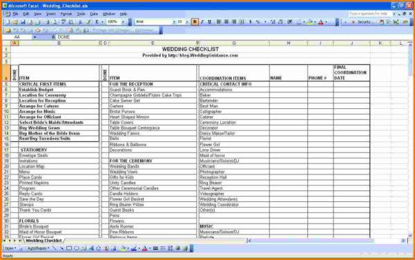 Wedding Planning Checklist Excel Spreadsheet Throughout Grand Wedding Planning Checklist Excel Wedding Budget Spreadsheet