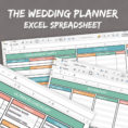 Wedding Planning Excel Spreadsheet Intended For Wedding Planner Spreadsheet, Excel Wedding Planner, Organiser