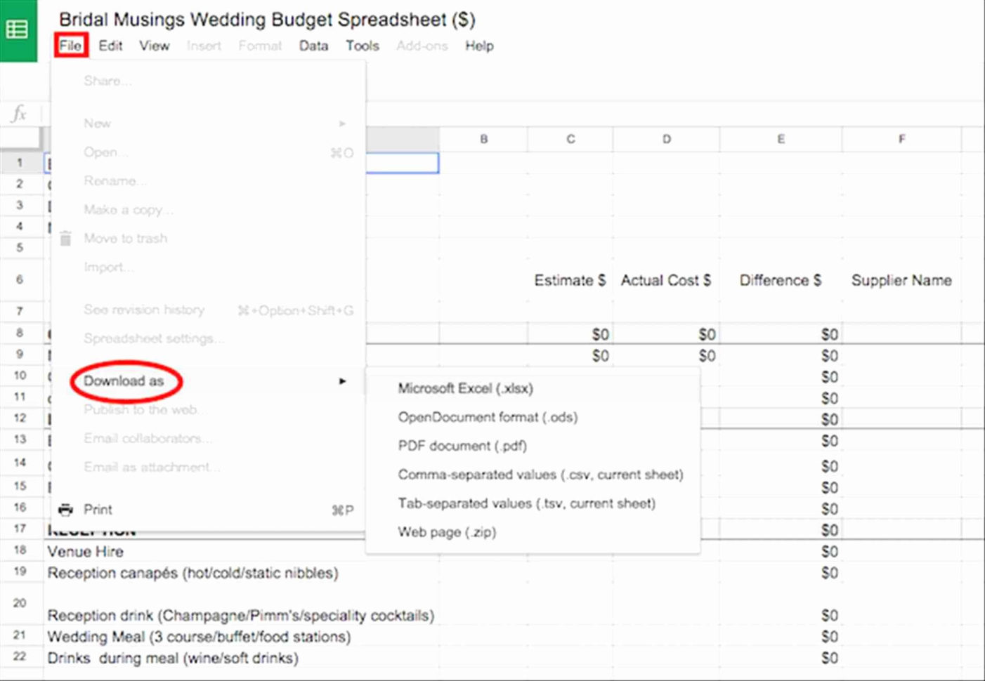 Wedding Planning Excel Spreadsheet Throughout Wedding Planning Excel Spreadsheet  Readleaf