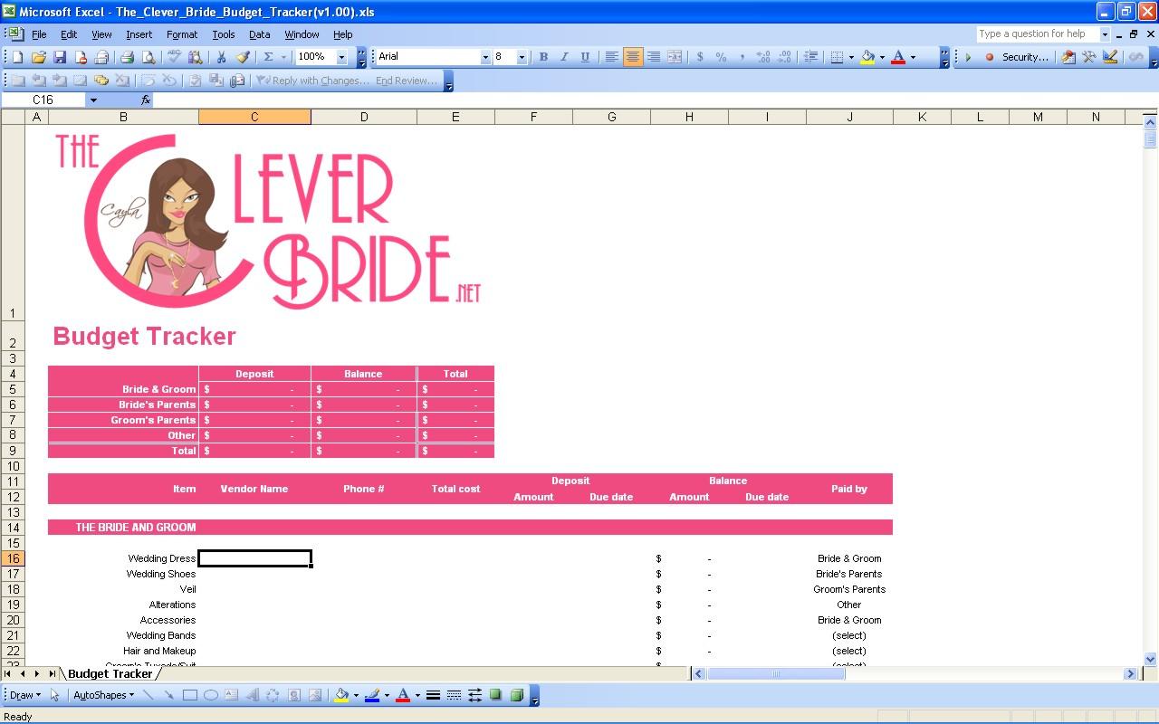 Wedding Planning Spreadsheet Pertaining To 15 Useful Wedding Spreadsheets – Excel Spreadsheet