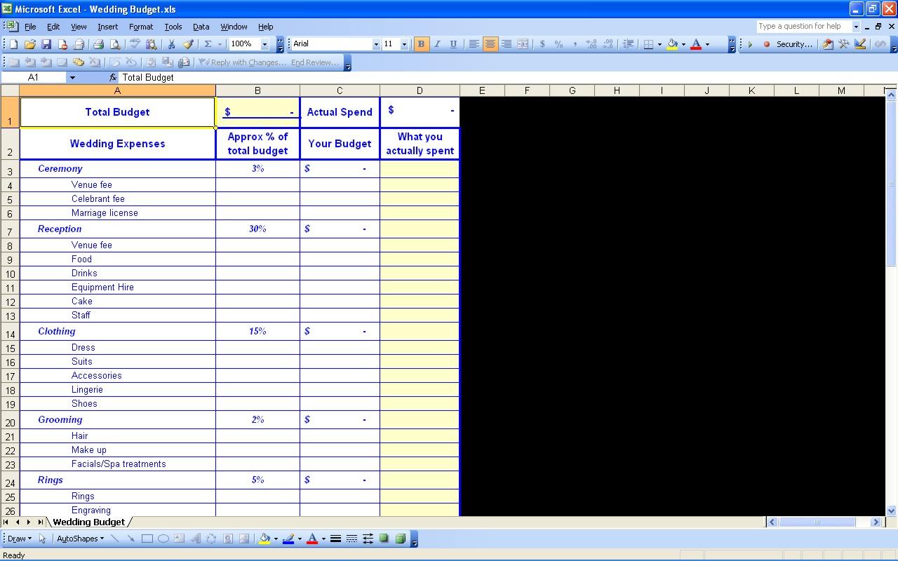 Wedding Registry Spreadsheet With 15 Useful Wedding Spreadsheets – Excel Spreadsheet