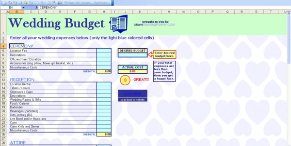 Wedding Spending Spreadsheet Intended For 15 Useful Wedding Spreadsheets – Excel Spreadsheet