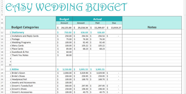 Wedding Spreadsheet For Spending Spreadsheet As Wedding Budget Spreadsheet How To Create An