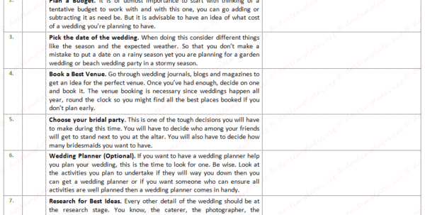Wedding To Do List Excel Spreadsheet Pertaining To Ultimate Wedding To Do List For Wedding Planning Wedding To Do List Excel Spreadsheet Google Spreadsheet