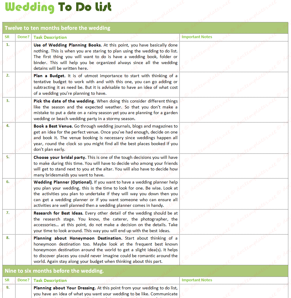 Wedding To Do List Excel Spreadsheet Google Spreadshee
