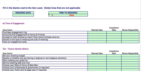 Wedding To Do List Spreadsheet Regarding Template Format Example Do Wedding To Do List Spreadsheet List