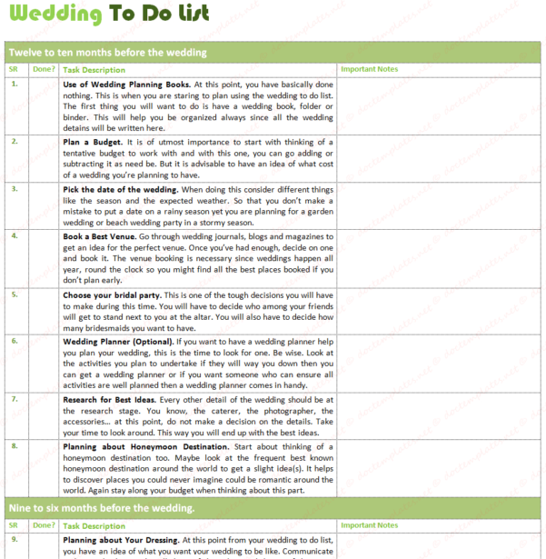 Wedding To Do List Spreadsheet With Ultimate Wedding To Do List For Wedding Planning