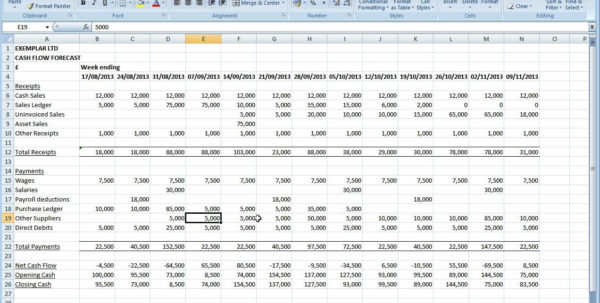 Weekly Cash Flow Forecast Spreadsheet Pertaining To Cash Flow Forecasting Spreadsheet 8 – Elsik Blue Cetane
