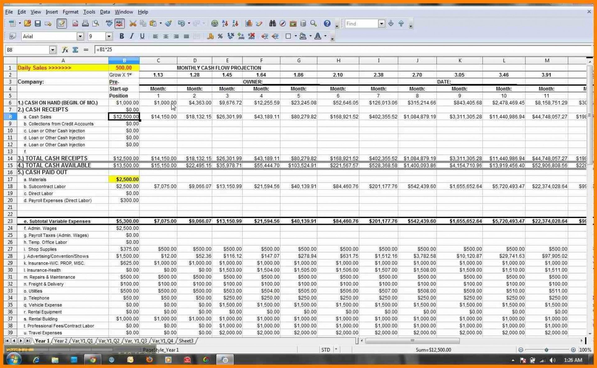 weekly cash flow forecast spreadsheet spreadsheet downloa. Black Bedroom Furniture Sets. Home Design Ideas