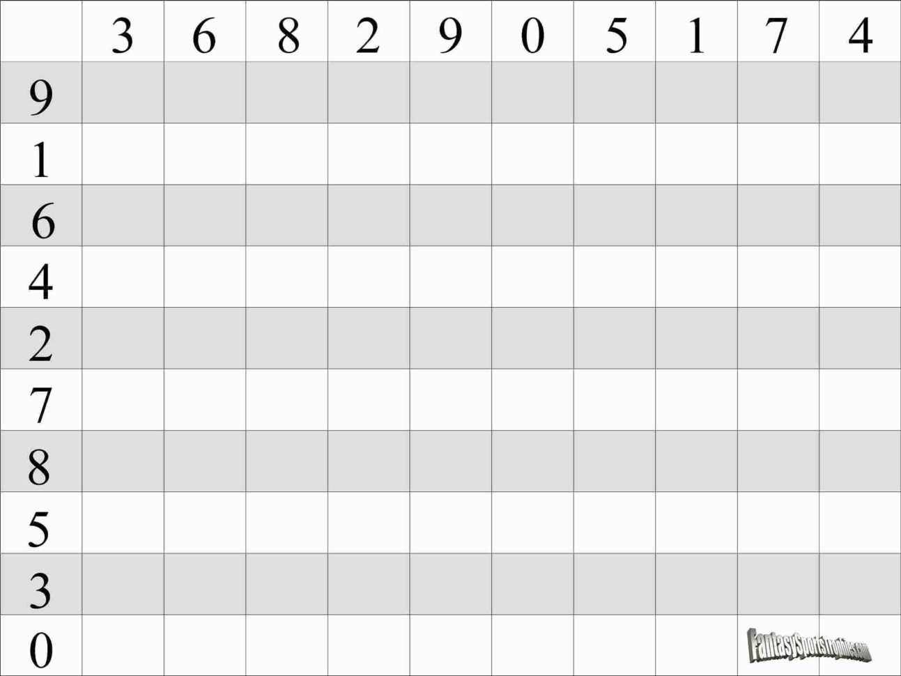 Weekly Football Pool Excel Spreadsheet With Football Squares Template Excel Awesome Weekly Football Pool Excel