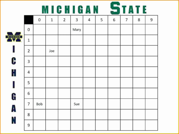 Weekly Football Pool Excel Spreadsheet Within Weekly Football Pool Spreadsheet Lottery Template New Excel 2018