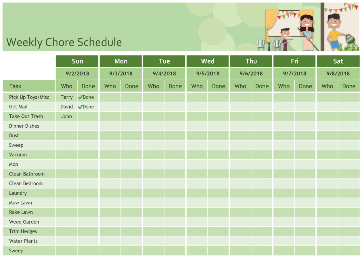 Weekly Hours Spreadsheet In Schedules  Office