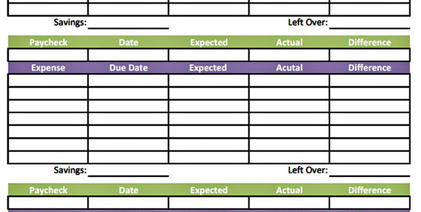 Weekly Paycheck Budget Spreadsheet In Paycheck Budget Back Cool Free Printable Bi Weekly Budget Template
