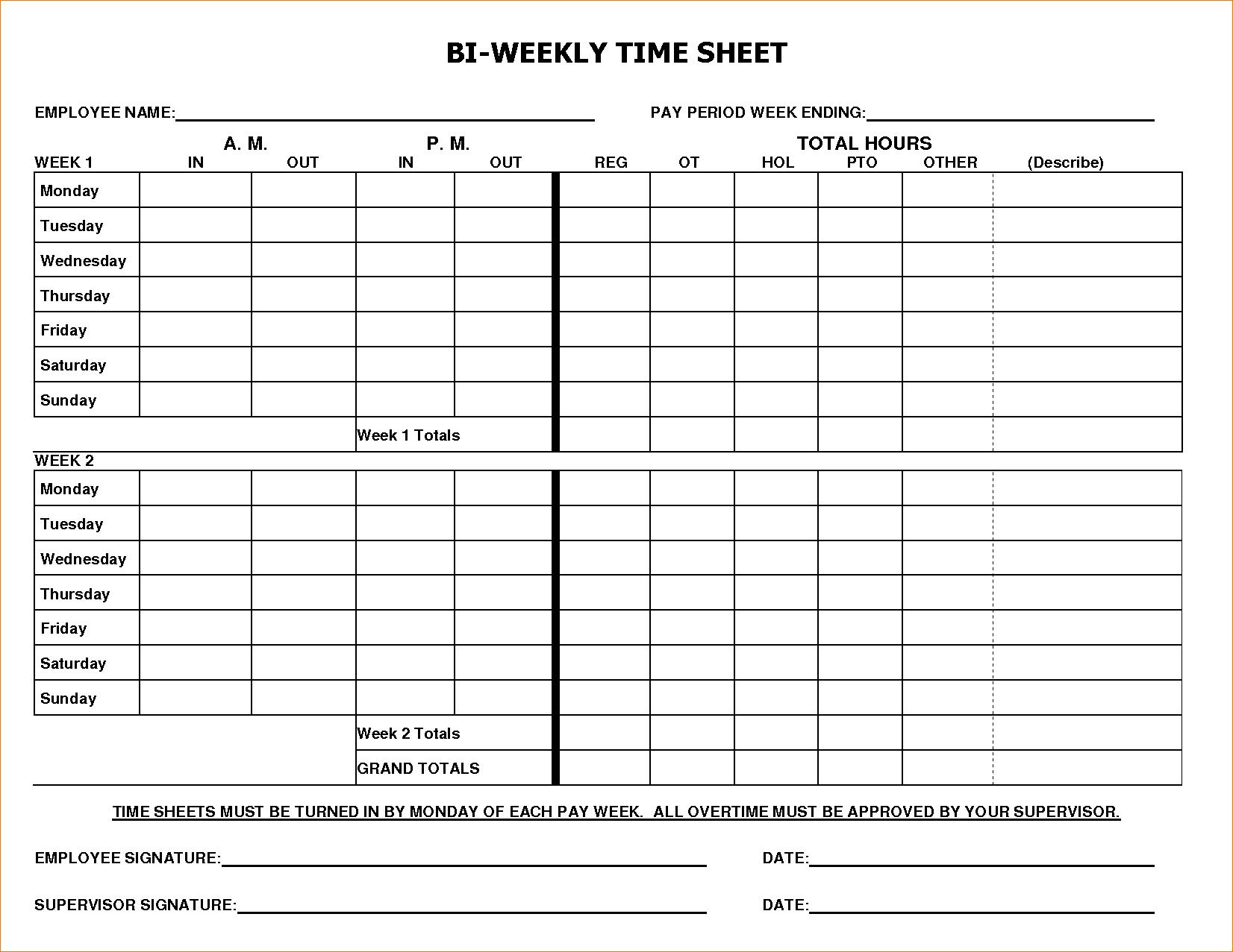 Weekly Timesheet Spreadsheet Regarding Times Sheet Template And 8 Bi Weekly Timesheet Template Timeline