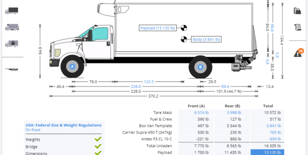 Weight Distribution Spreadsheet With Axle Weight Calculator  Truckscience