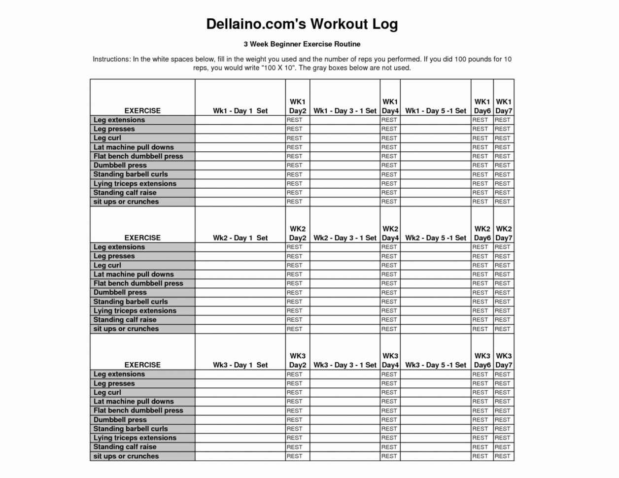 Weight Training Spreadsheet Template In 020 Workout Log Template Excel Unique Training Tracker Perfect Of