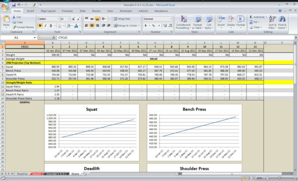 Weight Training Spreadsheet Template Regarding Weight Lifting Spreadsheets  Austinroofing