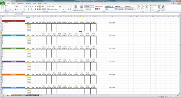 Weight Training Spreadsheet Template Within Excel Spreadsheet Templates Page 43 Sample Marketing Budget