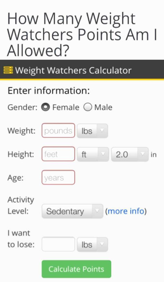 Weight Watchers Points Spreadsheet Throughout 67 Lovely Figure Of Weight Watchers Points Allowance Calculator