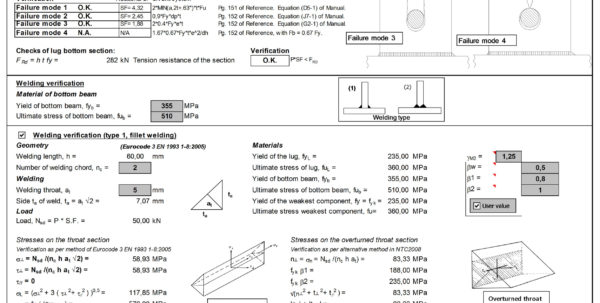 Welding Calculator Spreadsheet Intended For Example Of Welding Calculator Spreadsheet Design And Verification