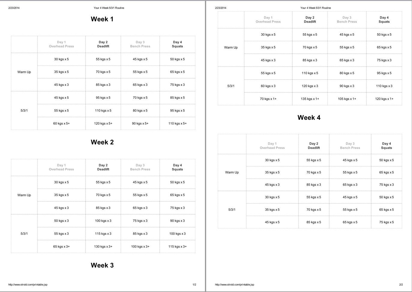 Wendler 531 Spreadsheet With Regard To Jokerk's Worklog  Page 47  Www.hardwarezone.sg