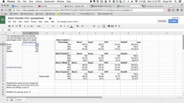 Westside Barbell Program Spreadsheet For Westside Barbell Program Spreadsheet – Spreadsheet Collections