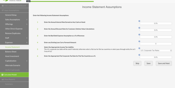 What Are The Assumptions For Your Cash Flow Spreadsheet Inside Startup Financial Model  Features Business Plan Template
