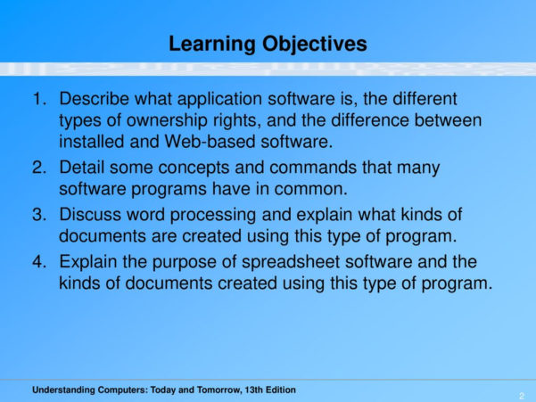 What Do Presentation And Spreadsheet Software Have In Common Pertaining To Chapter 6: Application Software.  Ppt Download