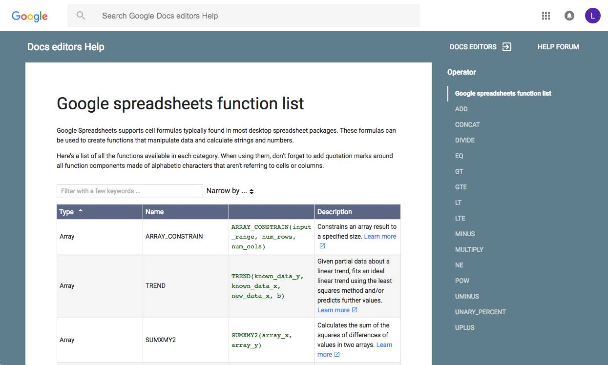 What Is A Function In A Spreadsheet In Google Sheets: Working With Functions