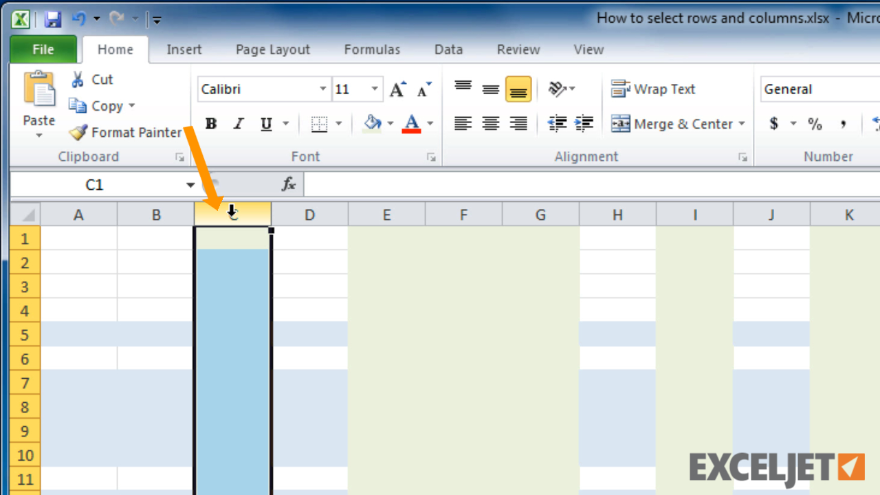 What Is A Row In A Spreadsheet Pertaining To Excel Tutorial: How To Select Rows And Columns In Excel