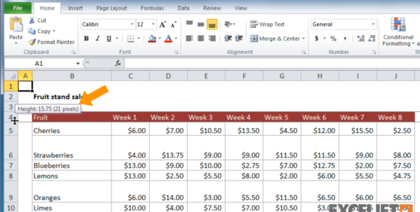 What Is A Row In A Spreadsheet With Regard To Excel Tutorial: How To Change Row Heights In Excel