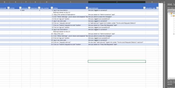 What Is An Xml Spreadsheet Intended For Manual Testing  Need Help With Importing Testcases In To Testlink