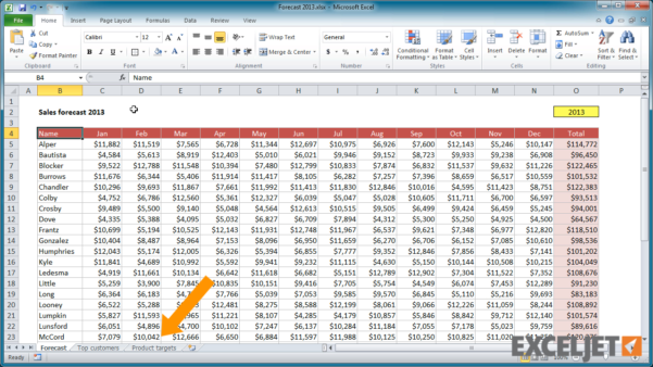 What Is Spreadsheet In Excel Regarding Excel Tutorial: How To Navigate A Workbook