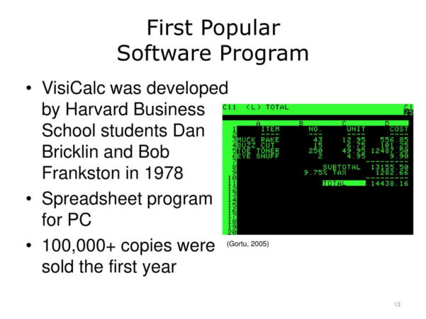 What Was The First Spreadsheet Program For Introduction To Computer Science  Ppt Download