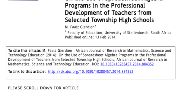 What Would A Teacher Use A Spreadsheet For With Pdf On The Use Of Spreadsheet Algebra Programs In The Professional