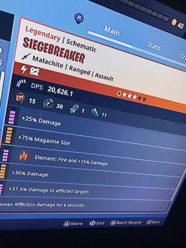 Whitesushi Spreadsheet Throughout Siege Breaker Perks  Any Perks I Should Change Out? : Fortnite