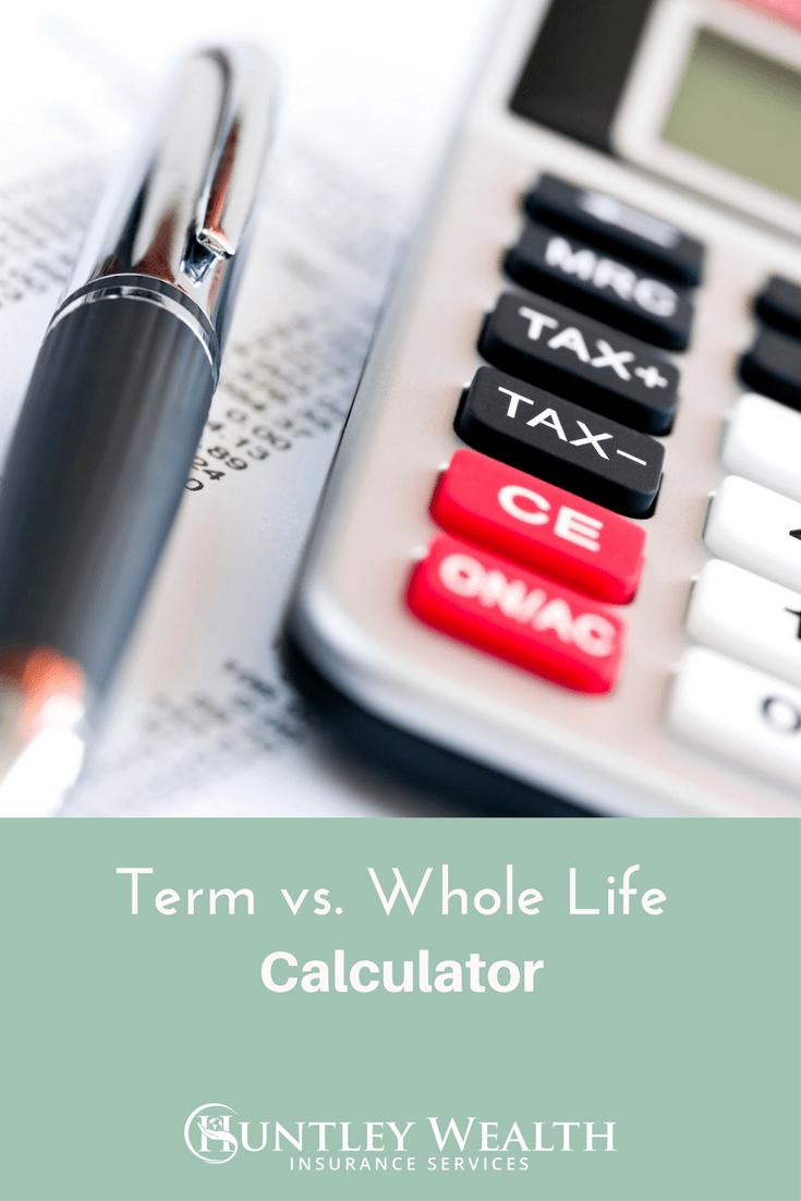 Whole Life Insurance Spreadsheet Inside Term Vs. Whole Life Insurance Cost  Cash Value [Calculator]