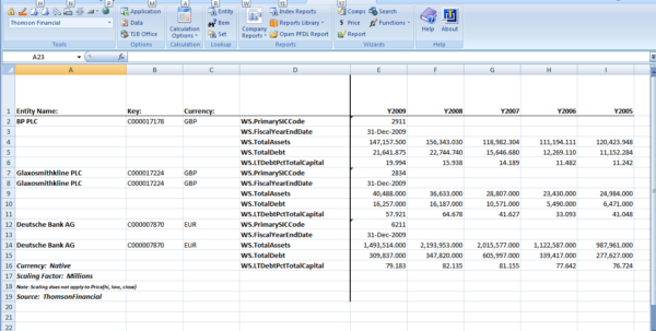 Why Do Bankers Use Spreadsheets With Regard To Panel Data From Thomson One Banker Excel Addin  Business