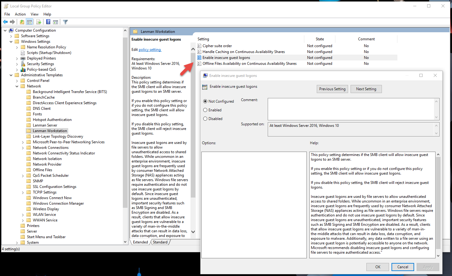 Windows 10 Group Policy Settings Spreadsheet For Securing Windows Workstations: Developing A Secure Baseline – Active