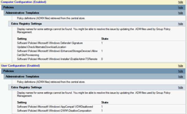 Windows 10 Group Policy Settings Spreadsheet Intended For Admx Version History – Group Policy Team Blog