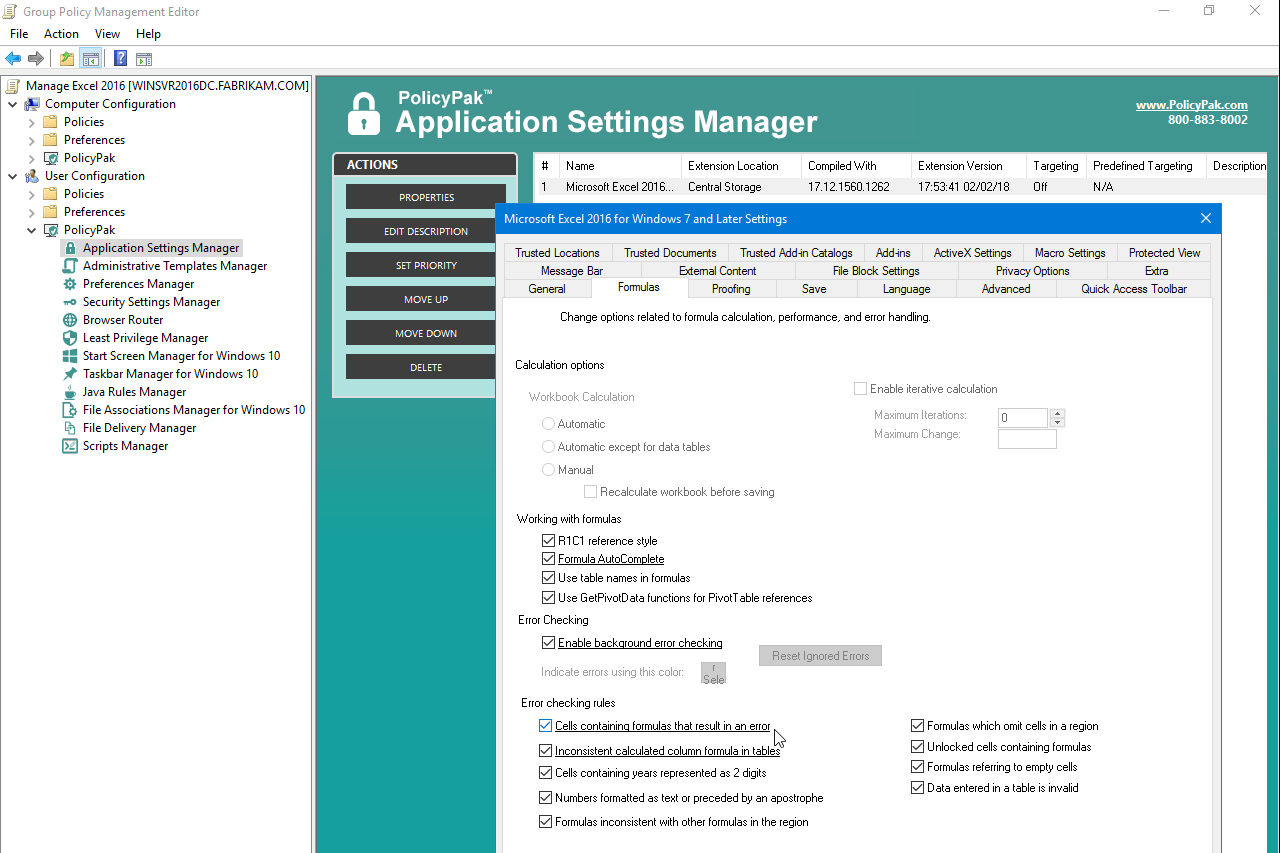 Windows 10 Group Policy Settings Spreadsheet Within Policypak For Microsoft Office 2013 And 2016  Policypak