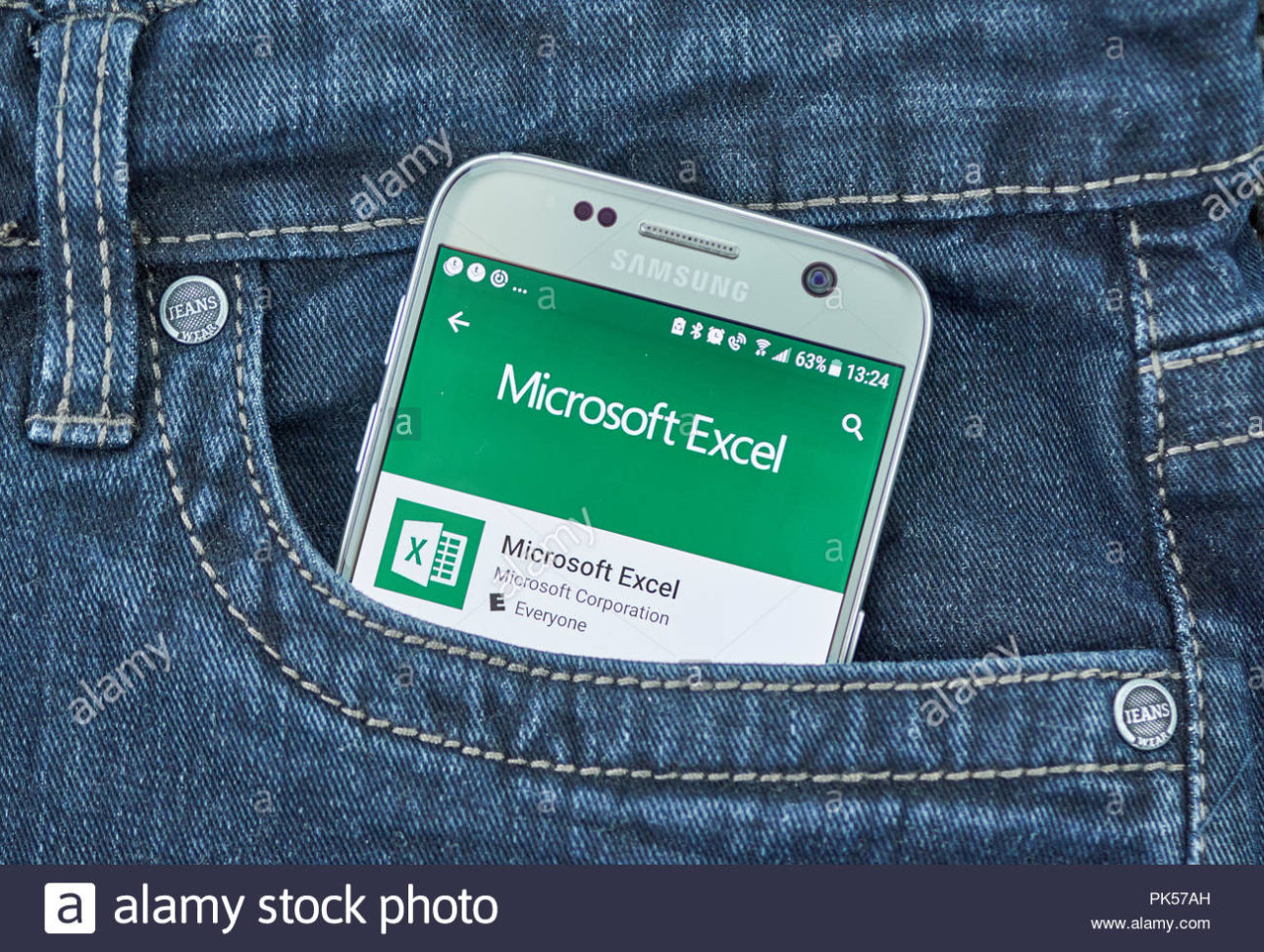 Windows Spreadsheet App Within Montreal, Canada  September 8, 2018: Microsoft Excel Mobile App