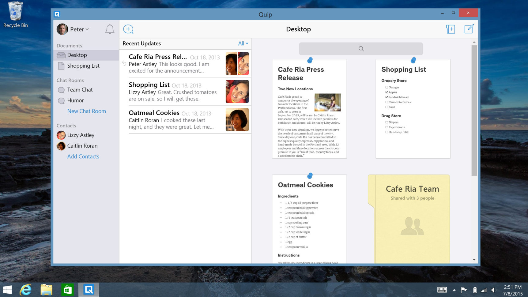 Windows Spreadsheet App Within Quip Takes On Microsoft Office With Desktop Apps For Windows, Mac
