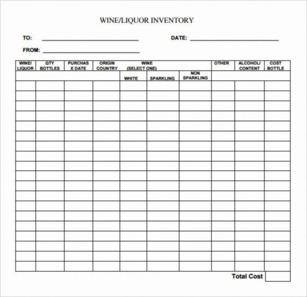 Wine Inventory Spreadsheet Intended For Liquor Inventory Spreadsheet Wine Regard Of Invoice Template And
